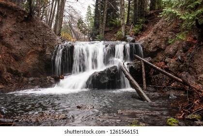 Winter waterfall in California