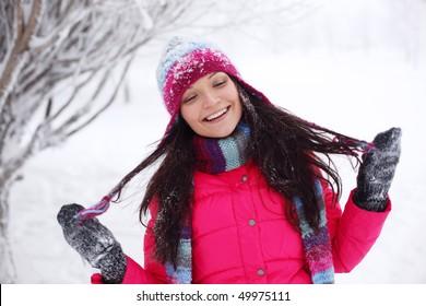 winter women close up