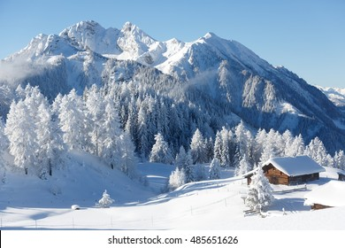 Winter wonderland in the Austrian alps