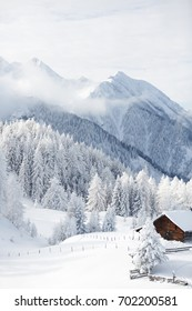 Winter wonderland in Austrian alps