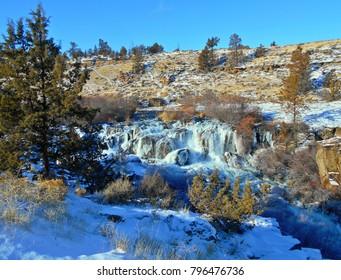 Winter Wonderland - Cline Falls on the Deschutes River in December - near Redmond, OR