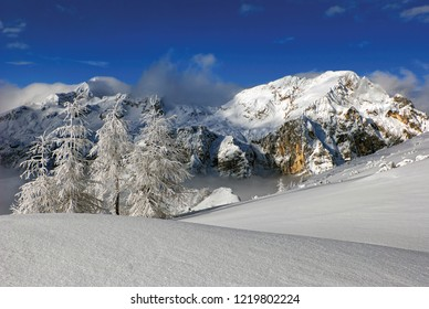 Winter wonderland in Julian Alps. Triglav national park. Slovenia. Europe.
