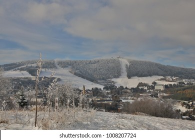 winter wonderland in the Ore Mountains in Saxony, Germany