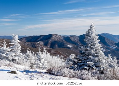 A winter wonderland in the Roan Highlands along the Appalachian Trail on the Border of Tennessee and North Carolina.