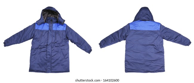 Winter work wear. Isolated on white background.