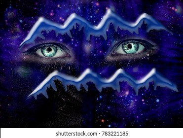 Winter zodiac signs ,Aquarius