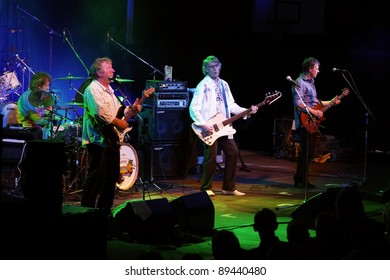 "WINTERBACH - NOVEMBER 19: Members of the rock group ""Wishbone Ash"" in concert November 19, 2011 in Winterbach, Germany"
