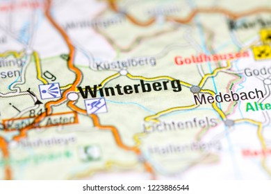 Winterberg. Germany on a map