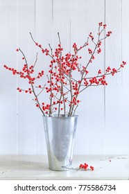Winterberry used as a natural festive decoration.