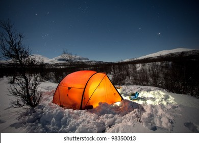 Wintercamping on the Kungsleden