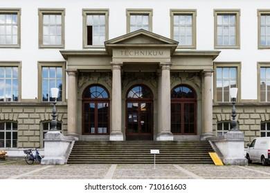 Winterthur Switzerland 2017/09/06 Entry of Zurich University of Applied Sciences ZHAW (Technikum)