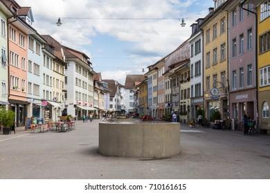 Winterthur Switzerland 2017/09/06 Steinberggasse in old town Winterthur