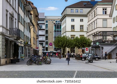 Winterthur Switzerland 2017/09/06 View of Neumarkt towards Untertor