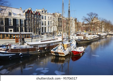 Wintertime in Amsterdam, Netherlands