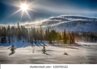 Wintertime in Northern Sweden