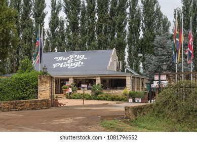 WINTERTON, SOUTH AFRICA - MARCH 18, 2018: The Pig and Plough farm stall and restaurant near Winterton in the Kwazulu-Natal Province