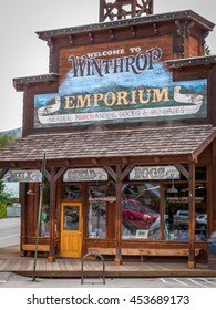 Winthrop, Wa. USA -June 18, 2009 : general store of Winthrop small western city, and popular tourist attraction