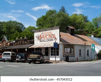 Winthrop, Wa. USA - June 18, 2009 : street scene with view of Saloon and dance hall in Winthrop, Washington state, USA