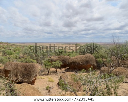 Winton outback Queensland ancient mesa formation