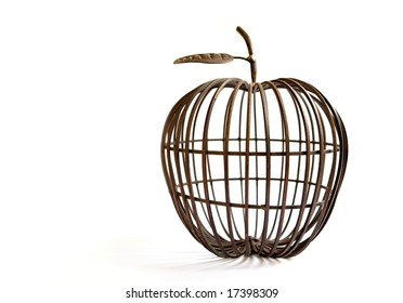 wire apple - decor