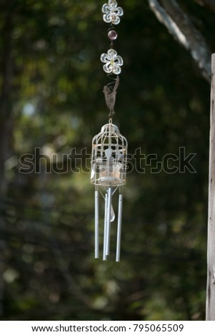 Wire Cage Sound Generator Mobile Hanging Stock Photo (Edit Now