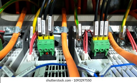 Wire connection of plant machinery.