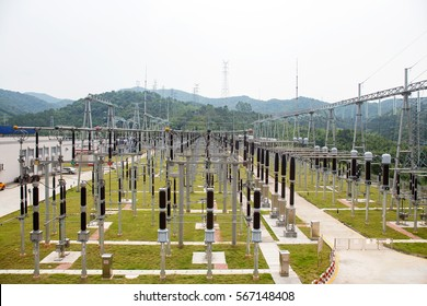 Wire equipment in substation