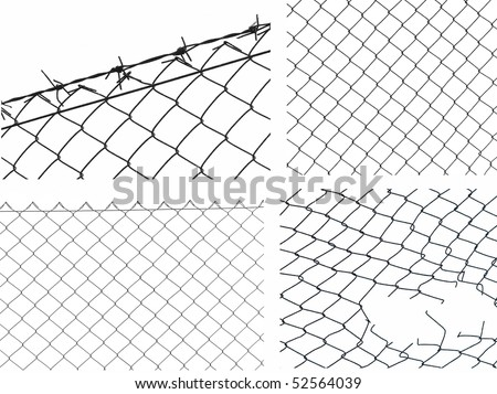 Wire Fence Isolated On White Background Stock Photo Edit Now