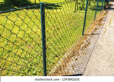 wire fence. seamless chain link fence. industrial fence