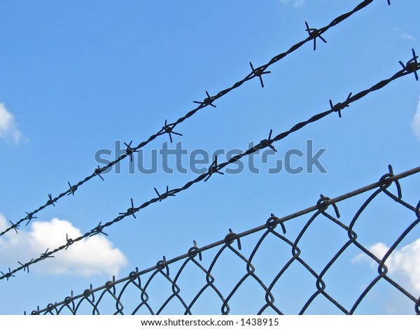 wire fence and the sky