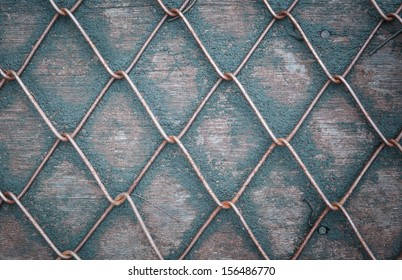 Wire Mesh Fence on wood