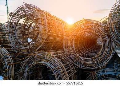 Wire Mesh pending applications at sunset.