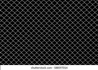 Wire mesh steel on black background