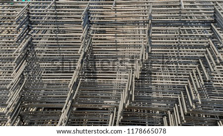 Wire Mesh Steel Use Reinforce Concrete Stock Photo (Edit Now