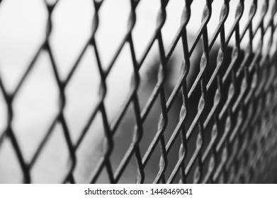 Wire mest black and white tone blurred, represented freedom, depression and hopeless.
