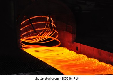 wire rolling mill coil forming laying head at steel plant