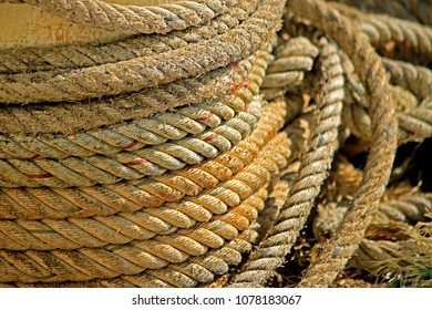 Wire rope texture on the boat