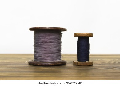 Wire Spool Standing On Table Old Stock Photo Edit Now 259269584