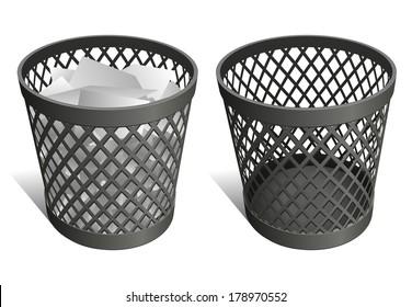 Wire trash can / waste bin / recycle bin