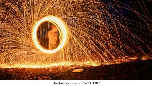 wire wool pyro