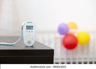 wireless baby monitor device on the table