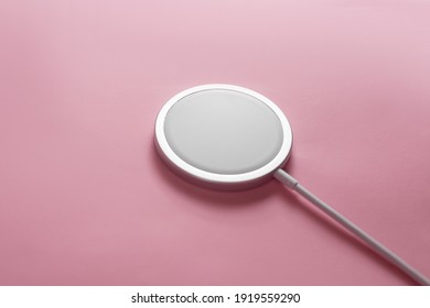 wireless charging on white background