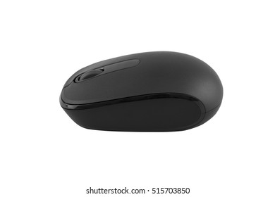 Wireless computer mouse isolated on white background - clipping paths