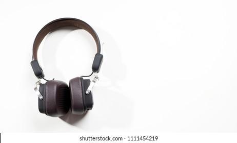 Wireless headphone isolated on white background