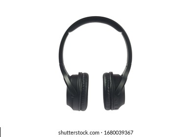 Wireless headphone on white background