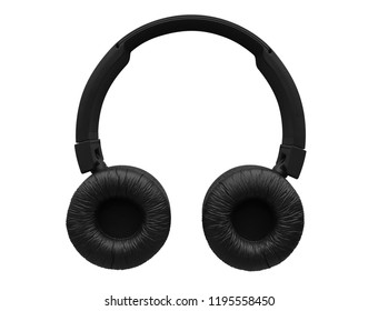 Wireless headphones isolated on white background. Clipping Path included.