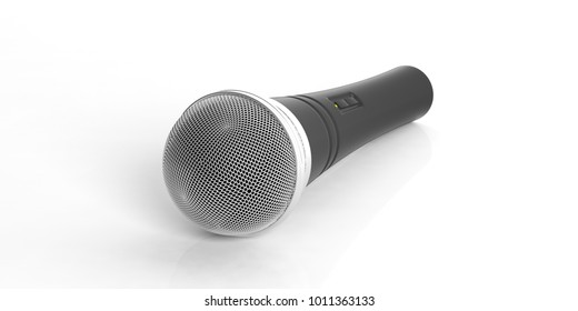 Wireless microphone isolated on white background. 3d illustration