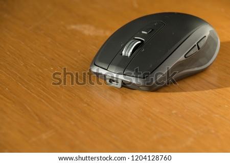Wireless Mouse Omnidirectional Scroll Wheel Side Stock Photo (Edit