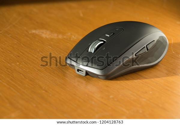 Wireless Mouse Omnidirectional Scroll Wheel Side Stock Photo