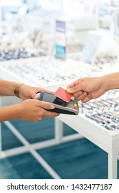 wireless payment at a retail shop